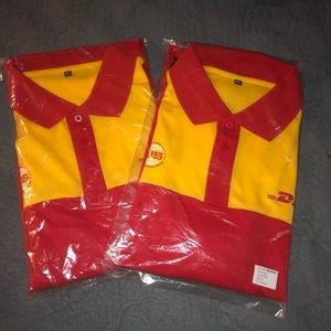 DHL Two New Unisex XXL Polo Shirts